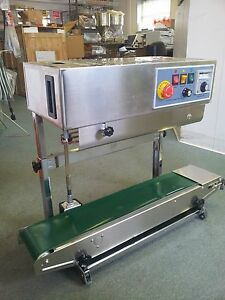 Dingye Fr 900v Veritcal Stainless Steel Continuous Band Sealer Machine