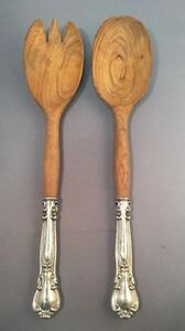 2 Piece Wooden Bowl Salad Set 10 In In Chantilly Made By Birks