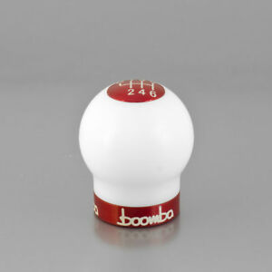 Focus St White Round 270 Weighted Shift Knob V2 Red Anodized Finish