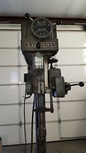 Clausing 20 Drill Press Model 22v Series 3 Phase Power Down Feed Variable Sp