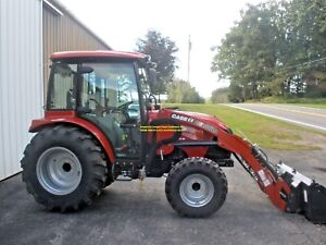 2016 Case Ih 50c 4 Wheel Drive Tractor Cab W Heat Ac Only 43 Hours