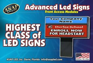 Led Sign Programmable Electronic Full Color Display 6 5 X 113 Appraiser