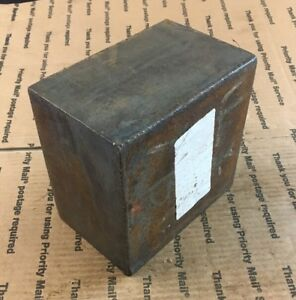 4 Thick Steel Block Press Blacksmithing Target Weight Heavy Square