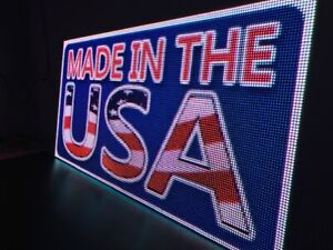 Led Sign Outdoor indoor Full Color One Sided Programmable Display 32 X 163