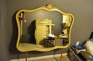 Gorgeous Vintage Drexel Touraine French Gold Provincial Clam Shell Mirror