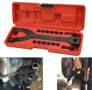 Adjustable Variable Pin Spanner Wrench 1 2 Dr Pulley Puller Remover Tool Kit