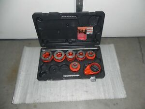 Ridgid 12r 1 2 2 Npt Exposed Ratchet Threader Set 8 Pc 36475 case Rigid 700