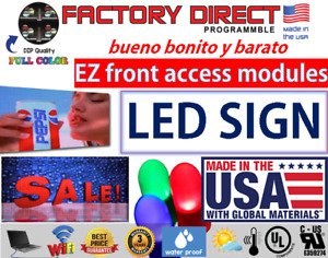 Led Sign Digital Full Color Programmable Front Access Panels 19 x163 Usa Made