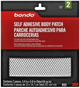 New Bondo 932 Self Adhesive Auto Body Patch Rust Repair