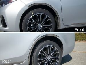 4pc Stainless Steel Wheel Well Accent Trim Wq14112 For Toyota Corolla 2014 2018