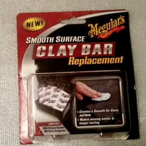 Meguiar S Smooth Surface Clay Bar 3 Bar Multi Pack 150g Total With Storage Case