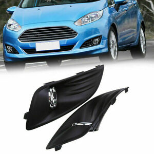 For Ford Fiesta 2012 2013 2014 2015 2016 Set Front Fog Lights Lamp Cover Grille