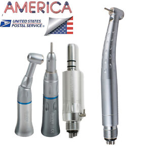 4hole Optional Dental Led High Speed Low Speed Handpiece Push Button For Clinic
