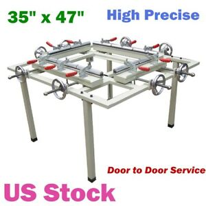 Us 35 X 47 Manual Silk Screen Stretching Machine Screen Printing Stretcher