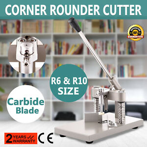 New Style All Metal Heavy Duty Corner Rounder Punch Cutter 2 Blades R6 r10 Us