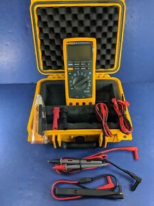 Fluke 189 Trms Multimeter Excellent Screen Protector Hard Case More