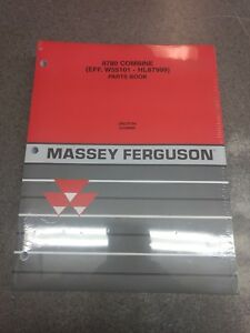Massey Ferguson 8780 Combine Parts Manual 651696m99