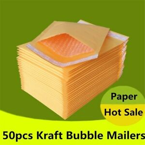 Padded Envelopes 50pcs lot Kraft Bubble Mailers Shipping Bags Self Seal Post Bag