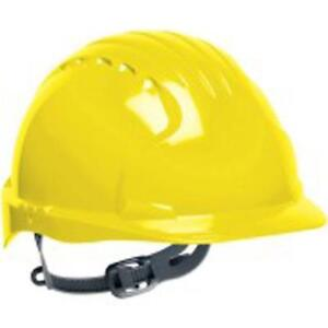 Safety Works Swx00367 Pro Cap Style Hard Hat With Slip Ratchet Yellow 6 Pack