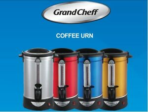 Large Coffee Urn 140 Cup Dispenser Big Silver Commercial
