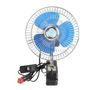 12v Car Oscillating Fan Dashboard Cooling Fan For Boats Off Road Equipment Buses