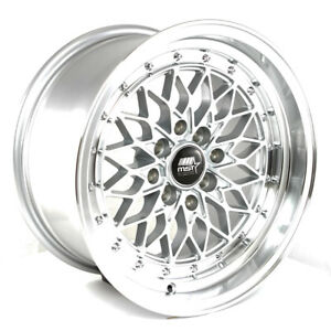 Mst Mt36 15x8 20 4x100 4x114 3 Silver Civic Accord Integra Miata Xb Yaris Crx