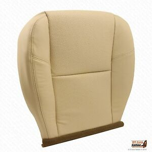 2007 2008 Cadillac Escalade Passenger Bottom Perforated Leather Seat Cover Tan