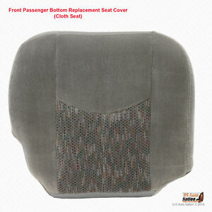 For 2003 2006 Chevy Tahoe Suburban Passenger Bottom Cloth Seat Cover Pewter Gray