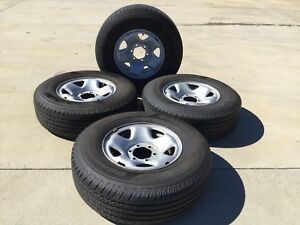 Used Set Of 4 Hankook Dynapro Ht 245 75 r16 Tires And Factory Toyota Rims wheels