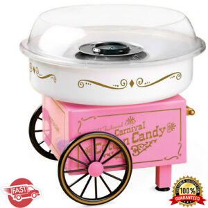 Commercial Vintage Electric Cotton Candy Machine Maker Hard Sugar Floss Us