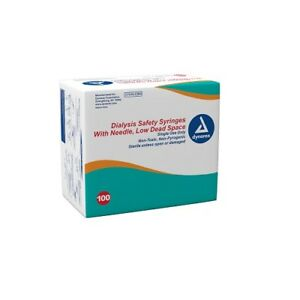 Dynarex 6931 6932 Syringe Dialysis Safety Low Dead Space 100 bx 12 cs