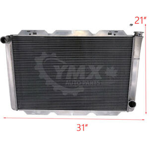 Gm Chevy 31 X 21 Racing Radiator All Aluminum 2 Row Universal Extreme Cooling