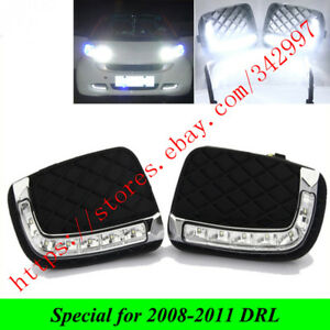 2pcs Car Led Daytime Running Lights Drl For Mercedes benz Smart Fortwo 2008 2011