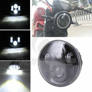 5 75 5 3 4 Round Led Headlight With Amber Turn Signal Fits Harley Motorcycle