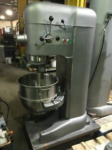 Single Phase 230v Hobart M802 80 Qt Mixer Rebuilt