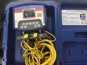 Yellow Jacket 40815 Refrigeration System Analyzer Digital Manifold 4 Valves