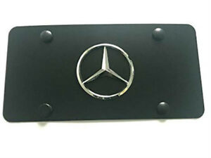 Black Stainless Steel License Plate 3d Raised Emblem Tag Screw For Mercedes Benz