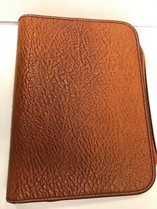 Western Genuine Cowhide Leather 3 Ring Binder Vintage In Great Condition