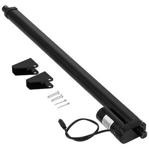 20 Inch Black Linear Actuator Stroke 225 Pound Max Lift Output 12v Volt Dc