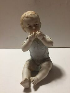 Antique Rudolstadt Bisque Playful Piano Baby Boy Rough Shape