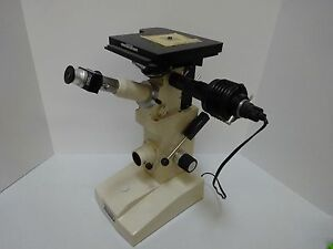 Microscope Unitron Neomet Stage Inverted Metallograph Japan Optics As Is tb 4