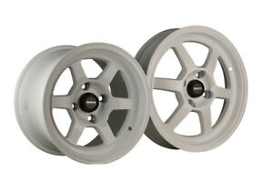 Traklite Wheels Race Series Launch 13x8 4x100 20 Offset Arctic White Pair New