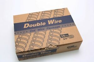 Double Wire Book Binder Spine 19mm 3 4 Silver 21 Loops Box Quantity 50 Nib C466