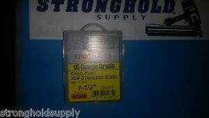 16g 1 1 2 Ss Finish Nails 16124ss Spotnail Stainless Steel 1000 Per Carton