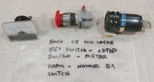 Emco Compact 5 Lathe Key Estop Switches Meter 1011