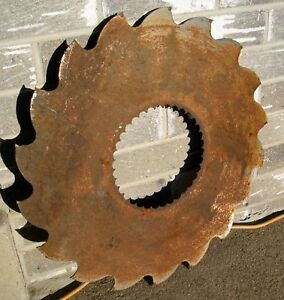 Antique 22 Buzz Saw Blade Industrial Saw Mill Country Rustic Steampunk Decor