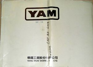 Yam Yang Iron Works Cnc 3a With Fanuc 6mb Electrical Drawings Manual