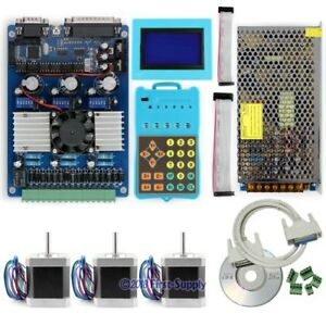Advanced 3axis Tb6560 Stepper Driver Kit Keypad Display Nema17 Motors psu