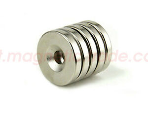 50 100pcs 22mm X 3mm Countersunk 5mm Disc Round Magnets Rare Earth Neodymium N50