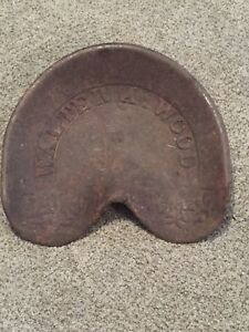 Walter A Wood Cast Iron Tractor Seat Horse Drawn Equipment Seat Original Nice